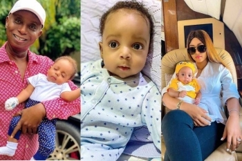 See What Regina Daniels Baby, Munir Got On Instagram That No Nigerian Celebrity Baby Has Ever Gotten